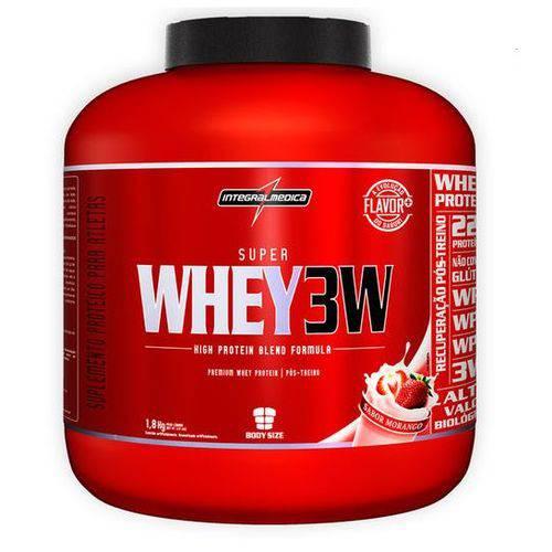 Super Whey 3w 1,8kg Morango - Integralmédica