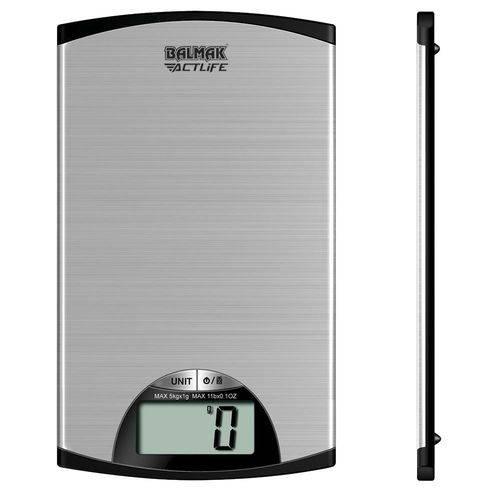 SUPERINOX-5 Balança Digital com Plataforma Ultra-Slim em Aço Inoxidável Actlife Balmak