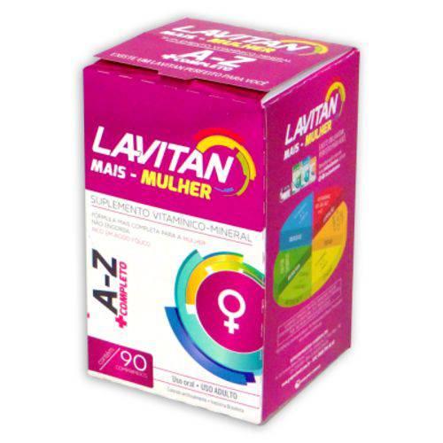 Suplemento Vitamínico Lavitan A-z Mais Mulher - 90 Comprimidos