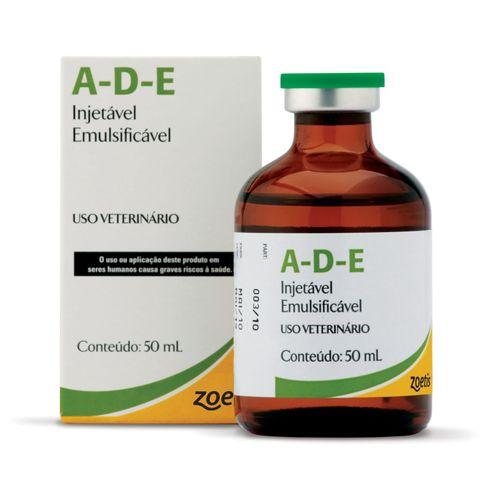 Suplemento Vitamínico Zoetis Ade Pfizer Injetável para Bovinos, Equinos, Suínos, Caprinos e Coelhos 50ml