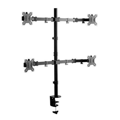 Suporte Articulado de Mesa P/ 4 Monitores Sbrm740 Brasforma Preto