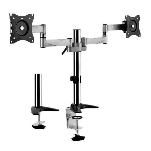 Suporte Articulado Morsa para 2 Monitores LED e LCD de 13 a 27