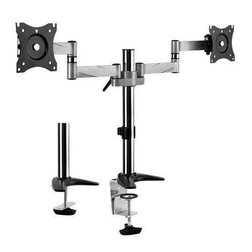 Suporte Articulado P/ 2 Monitores SBRM723 Brasforma Preto e Prata