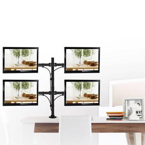 """Suporte Articulado para 4 Monitores Led e LCD de 13"""" a 27"""" - SBRM740"""