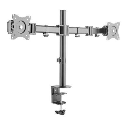 """Suporte Articulado para 2 Monitores LED e LCD de 13"""" a 27"""" - Brasforma SBRM 721"""