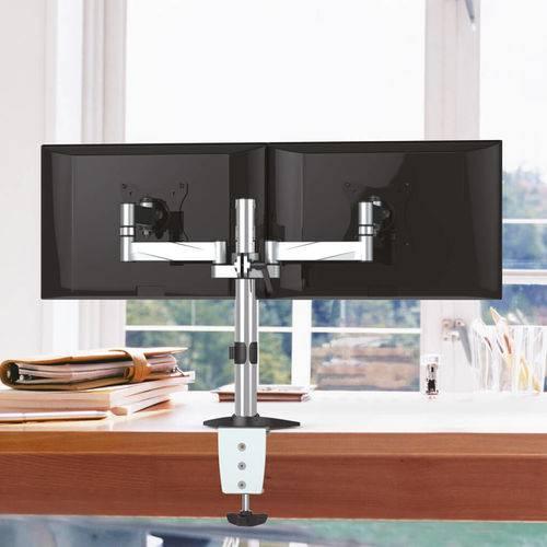 """Suporte Articulado para 2 Monitores Led e LCD de 13"""" a 27"""" - SBRM723"""