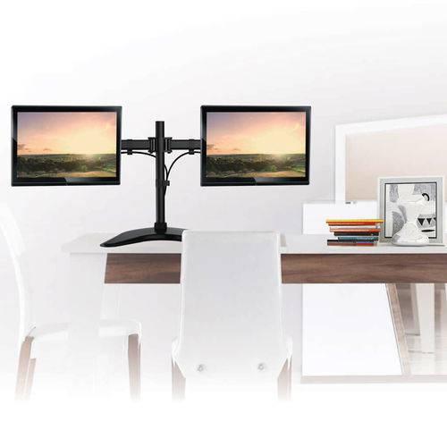 """Suporte Articulado para 2 Monitores Led e LCD de 13"""" a 27"""" - SBRM720"""