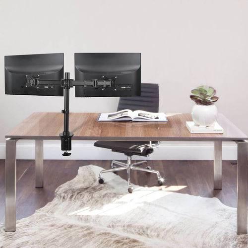 """Suporte Articulado para 2 Monitores Led e LCD de 13"""" a 27"""" - SBRM721"""