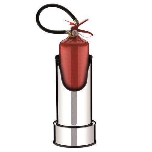 Suporte com Base para Extintor de Incêndio - Decorline Lixeiras - 25 X 49,7 Cm
