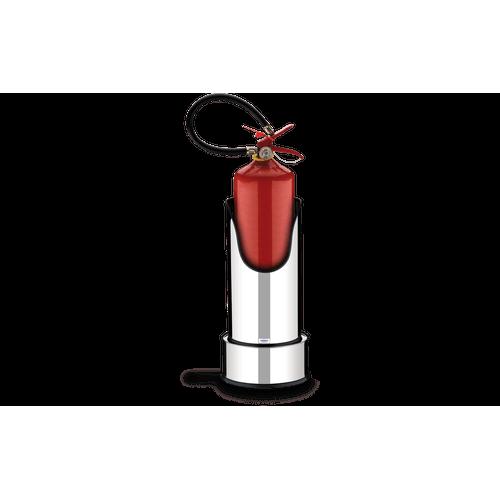 Suporte com Base para Extintor de Incêndio - Decorline Lixeiras Ø 25 X 49,7 Cm
