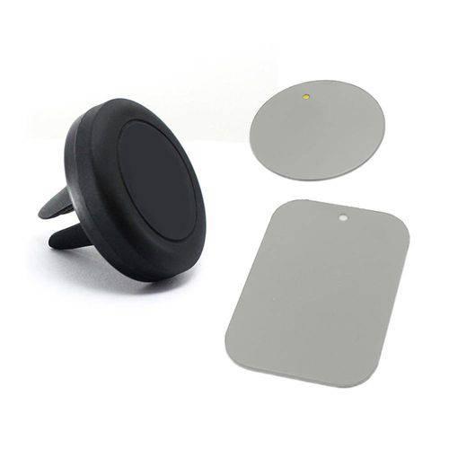 Suporte de Ar Universal Veicular Magnético para Celular, Smartphone, Gps - Prata