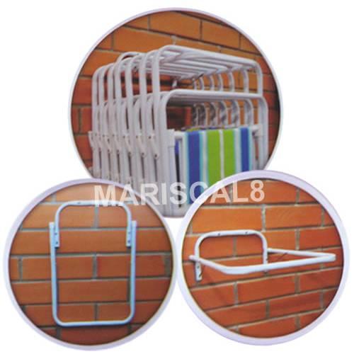 Suporte de Parede P/ Cadeiras de Praia ou Piscina Acessório Mr8 2494