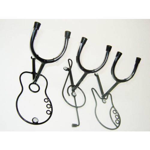 3 Suporte Parede Violão Guitarra Baixo ou Chão Jm.