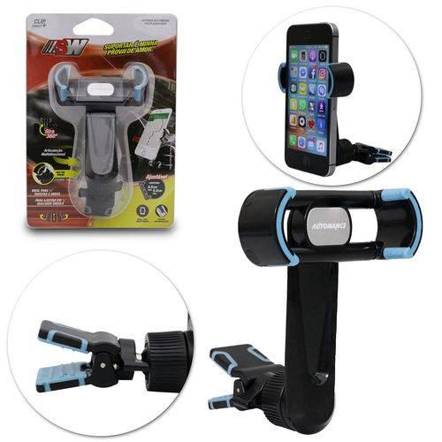 Suporte Universal para Celular Smartphone Gps Grampo Emborrachado Preto