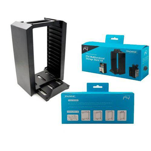 Suporte Vertical Stand 12 Dvd´s para Ps4 Ps4 Slim Ps4 Pro