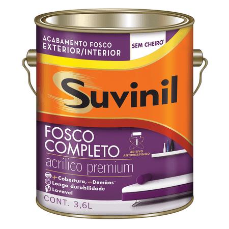 Suvinil Acrílico Fosco Completo Premium 3,6 Litros Branco Neve