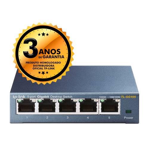 Switch 05 Portas TP-Link TL-SG105 Gigabit 10/100/1000Mbps