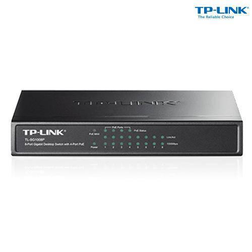 Switch 08 Portas Gigabit + 4 Portas Poe Tl-Sg1008p - Tp-Link