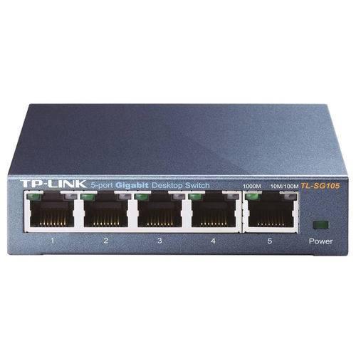 Switch 5 Portas Gigabit de Mesa 10/100/1000 Tl-sg105