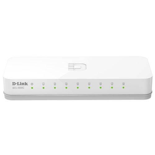 Switch 8 Portas 10/100Mbps D-Link Des-1008C