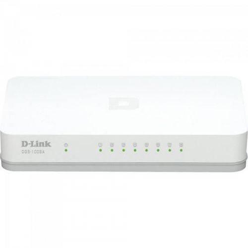 Switch 8 Portas 1000mbps Dgs-1008a Branco D-link
