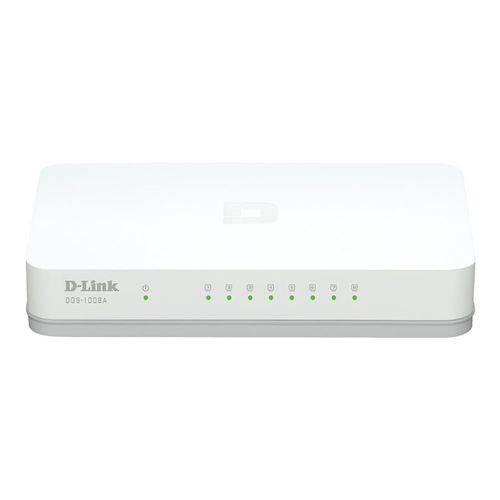 Switch 8 Portas D-link Dgs-1008a Gigabit 10 100 1000 Mbps