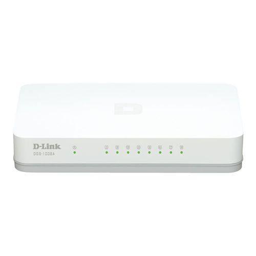 Switch 8 Portas D-link Dgs-1008a Gigabit 10/ 100/ 1000 Mbps
