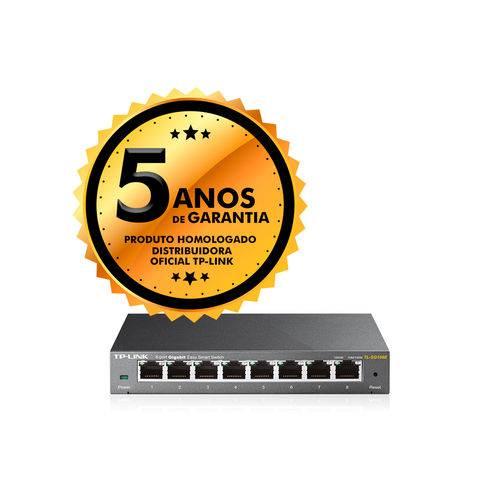 Switch 8 Portas Easy Smart TP-Link TL-SG108E Gigabit 10/100/1000Mbps