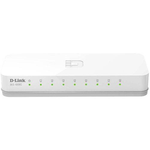 Switch D-Link DES-1008C - 8 Portas 10/100mbps