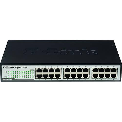 Switch D-link Dgs-1024d com 24 Portas Gigabit-ethernet 10/100mbps