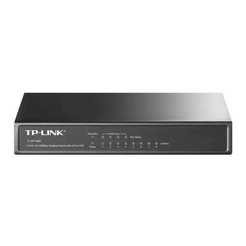 Switch de Mesa Tp-link Tl-sf1008p Fast Ethernet com 8 Portas (4 Portas Poe)