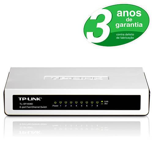 Switch Desktop 8 Portas 10/100Mbps Ethernet TL-SF 1008D - TP-Link