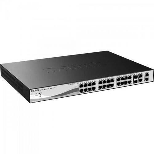 Switch Fast 28 Portas 100mbps Des-1210-28p Preto D-link
