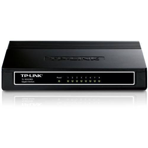 Switch Gigabit de Mesa de 8 Portas Tl-Sg1008d Tp-Link