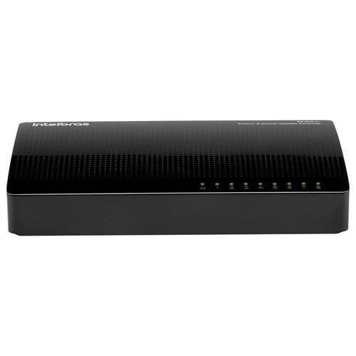 Switch Gigabit Intelbras Sg 800 Q+ Ethernet 8 Portas 10/100/1000 Mbps 4760035