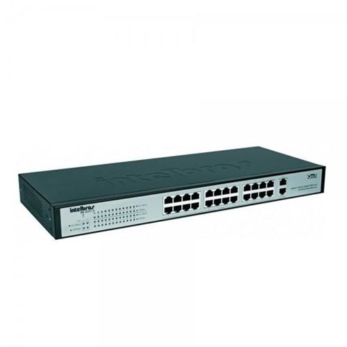 Switch Intelbras 24 PTS 10/100m + 2 Giga Sg2620qr