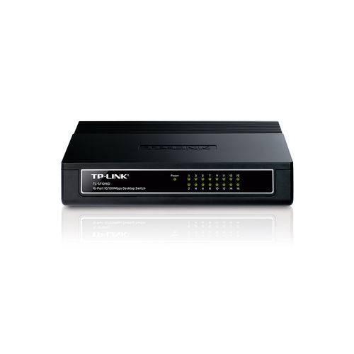 Switch Tp-Link Mesa 16 Portas 10.100Mbps Tl-SF1016D