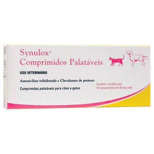 Synulox 50mg - Caixa com 10 Compr.