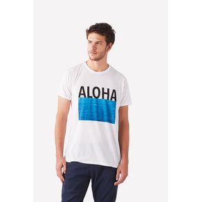 T-Shirt Aloha Branco - P