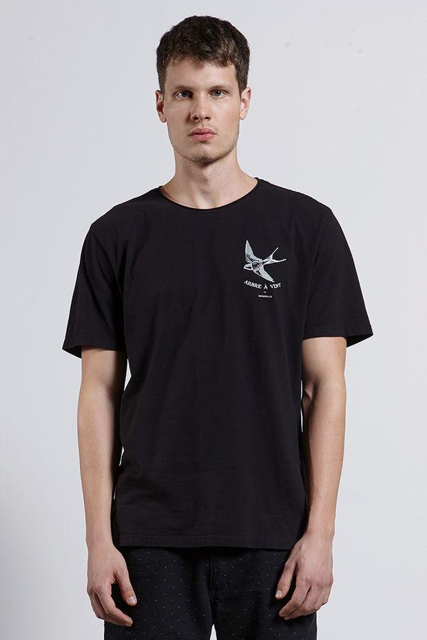 T-shirt Arbre Vent Preto G