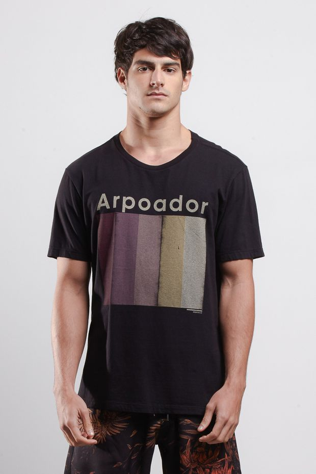 T-shirt Arpoador Sunset Preto G
