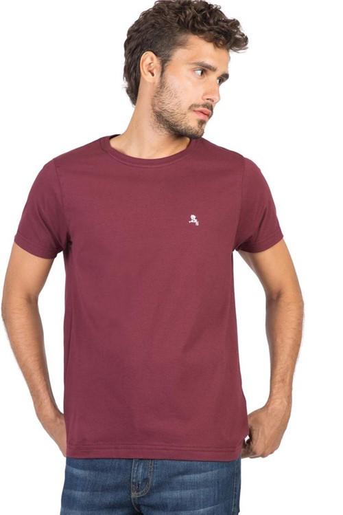 T-Shirt Básica Fit Vinho VINHO/P