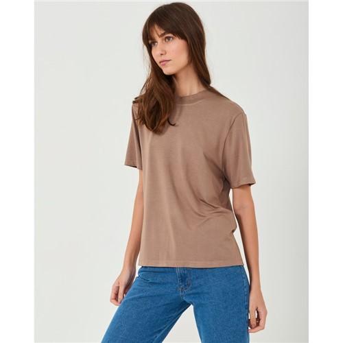 T-Shirt Básica Marrom M