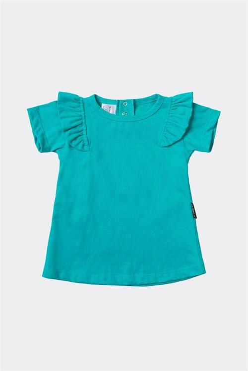 T-shirt Bb Ampla Babado M - Verde