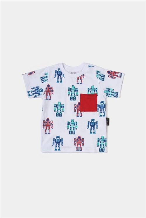 T-shirt Bb Mc Autobots M - Branco