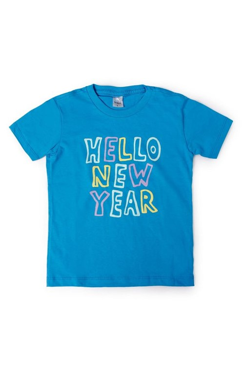T-shirt Bb Mc Hello New Year G - Azul