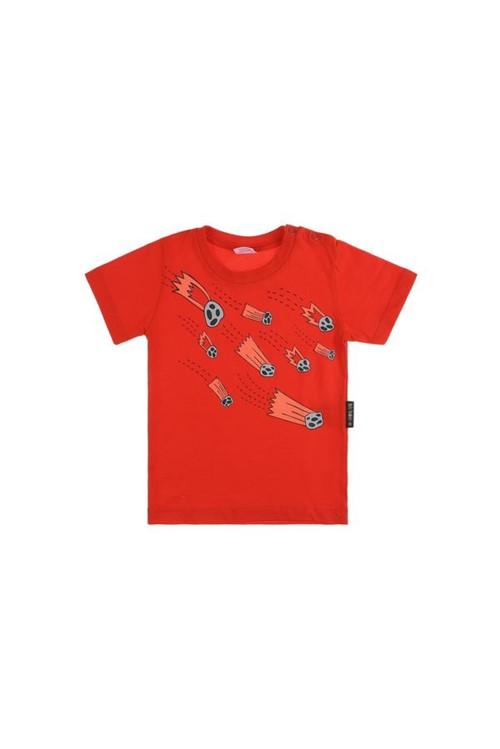 T-shirt Bebê Cometa M - Vermelho