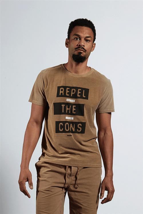 T-shirt Botone Repel The Cons Caqui G