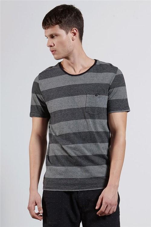 T-shirt Bowl Stripe Pocket Preto P