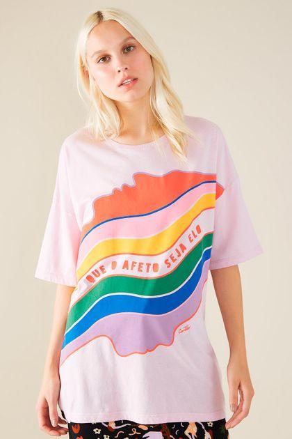 T-shirt Cantão Local Afeto - Lilás